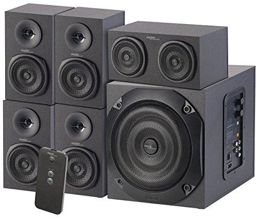 auvisio 5 1 Soundsystem: Analoges 5.1-Lautsprecher-System für PC, TV, DVD, Beamer & Co, 120 W (Heimkino-Lautsprecher-System)