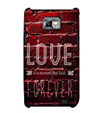 Fuson Designer Back Case Cover for Samsung Galaxy S2 I9100 :: Samsung I9100 Galaxy S Ii (Love is moment that last forever theme)