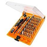 Tool kit riparazione portatili smartphone Magnetico CR V Kit cacciavite Esagonale, Tablet,Orologi, Macbook, PC e Elettrodomestici Adatto per la riparazione del prodotto digitale (45 IN 1)