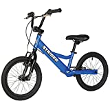 Strider Youth 16 Sport No-Pedal Balance Bike, Ages 6 to 10 Years, Blue