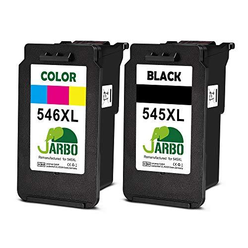 JARBO Remanufactured Cartucce Canon PG-545XL CL-546XL (1 Nero,1 colore) Compatibile con Canon PIXMA...