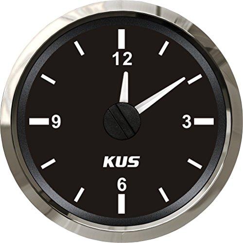 Kus garantito orologio calibro misuratore 12-hour formato con retroilluminazione 52mm (5,1cm)...