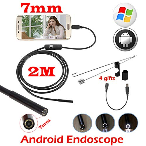 CARPRIE 5.5/7 mm Waterproof Mini Endoscope USB Wire Snake Tube Inspection Borescope for Android Smartphone PC