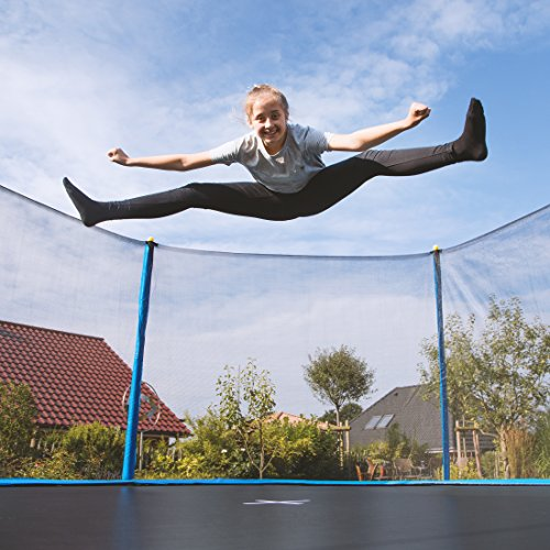 This trampoline is constructed with the best materials to ensure strength and durability. It comes in mid-range sizes and makes a solid space-effective option.