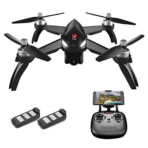 Goolsky MJX Bugs 5W 1080P 5G WiFi FPV Camera GPS Posizionamento Altitudine Tenere RC Drone Quadcopter (Nero w/ 2 Batteria)