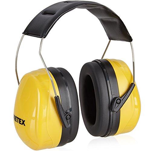 pretex profesional Protector auditivo con SNR 31Db, gran comodidad, peso ligero, Diadema ajustable, certificación CE, protección auditiva, de oído Protección, ruido, oído Schoner