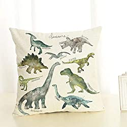 Almohada dinosaurios Impreso Sofá Decoración Cojín Caso agarre Bar Funda de almohada decorativa Cojín de móvil 1