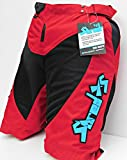 Childrens Mountain Bike Cycling Shorts (Red, 26)