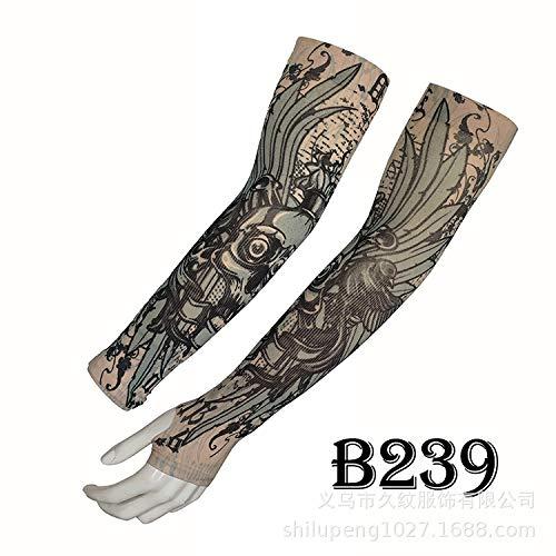 tzxdbh Tatuaggio Manica del Ghiaccio Estate Protezione Solare di Alta qualità Real Ice Silk Ombra Manica Tatuaggio B239 con Circonferenza del Braccio Dito 17-50 cm Disponibile