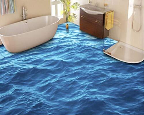 Wemall moda super impermeabile carta da parati tappeto pavimento 3D superficie a terra onda murale...