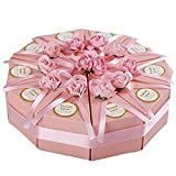 Livecity creative Candy Holder triangolo rose fiore corda torta box favor Candy box for wedding Home Decor, Carta, # a, large