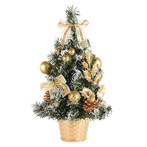 Kiao Piccolo Albero di Natale Abete Artificiale Decorazione del Partito in Casa / Nuovo anno- Oro/Rosso/Argento Grigio/Blu-7.8 / 11.7 / 15.6inches