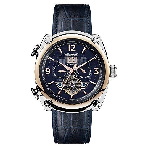 Ingersoll Herren Chronograph Automatik Uhr mit Leder Armband I01101