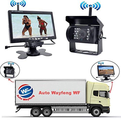 """Auto Wayfeng WF® Factory Verkauf neuer Wireless Car Monitor 7 """"Digital Farbe TFT 16: 9 LCD Auto Reverse Monitor mit Halterung Halter für Rückfahrkamera für Bus Trcuk Van Trailer RV"""