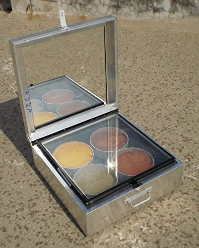 RUDRA SOLAR ENERGY Solar Box 4 Pot Cooker, 500x500x150mm (Silver)