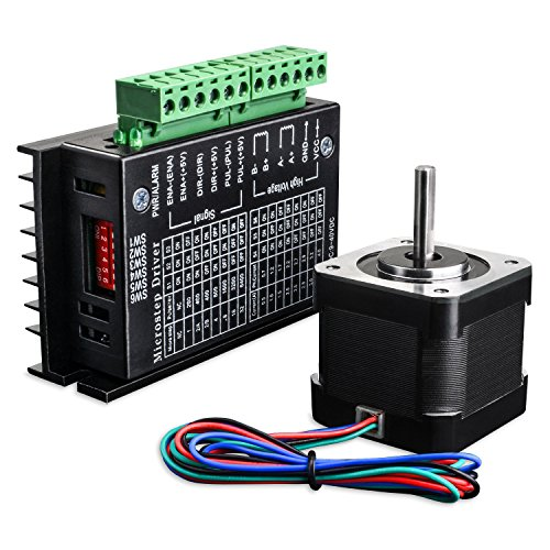 Description: Stepper motor Specification: Manufacturer Part Number: 17HS4401 Motor Type: Bipolar Stepper Step Angle: 1.8 deg.  Holding Torque: 0.4Nm(56.2oz.in) Rated Current/phase: 1.7A Frame Size: 42 x 42mm Body Length: 40mm Shaft Diameter: ...