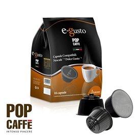 NESCAFE DOLCE GUSTO COMPATIBILE 96 capsule POP CAFFÈ E-GUSTO M. 1 INTENSO cialde