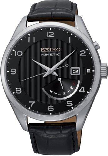 Seiko Herrenuhr Analog Quarz mit Lederarmband - SRN051P1