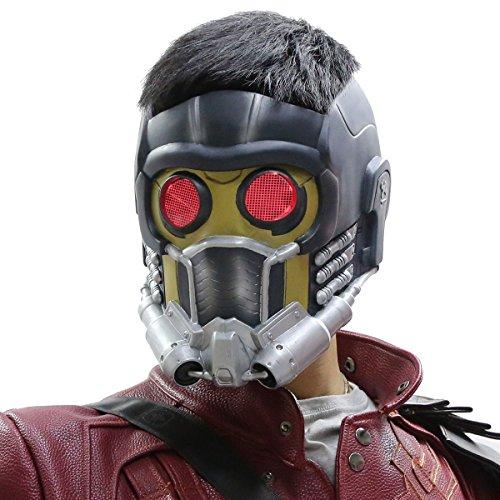 Guardians Maske Cosplay mit Glow Brille Erwachsene Helm Kostüm Halloween Mask PVC Aktualisierte Version