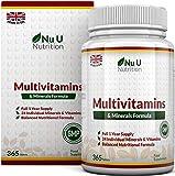 MultiVitamins & Minerals Formula | 24 complemento vitamínico (Vitaminas y Minerales | végétarien...