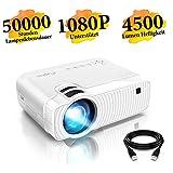 Mini Beamer, ELEPHAS 4500 Lumen Tragbarer LED Projektor, unterstützt 1080P, Max 180