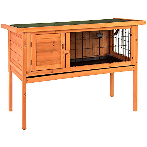 Home discount wooden pet rabbit hutch single bunny guinea for Discount guinea pig supplies