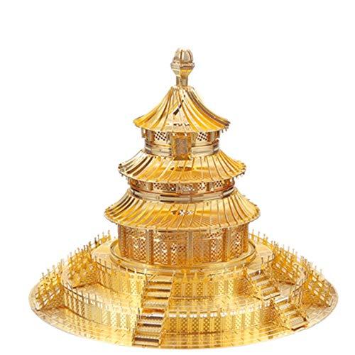 Creativo 3D in metallo/Cina Tempio del Cielo, fatto a mano, modellino di puzzle creativo per la casa...