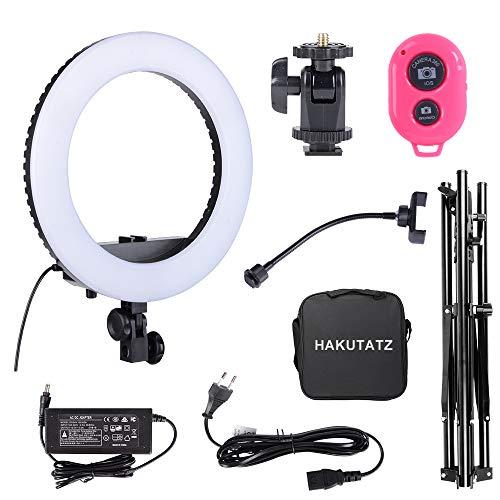 Hakutatz LED Ring Light Kit Anello LED Luci per Fotografia Video Selfie Light 14'' 33cm 3200-5600K...