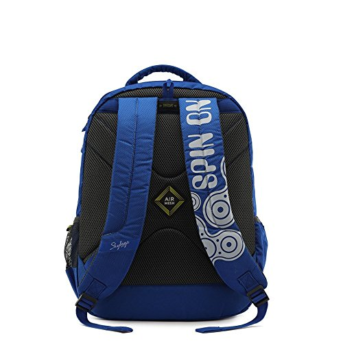 Skybags New Neon Polyester 1850 cm Blue Spacious School Backpack-32 Litres 5