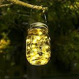 Solar Mason Jar Licht - Jar Fee Licht, Wasserdichte Glasgläser Garten Hängeleuchten, LED...
