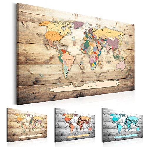 murando - Lavagna di Sughero 120x80 cm - 1 Parte - Quadro su Tela - Poster Mappa del Mondo Quadro...
