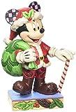 Enesco Disney Tradition Oggetto Decorativo Topolino Babbo Natale, Resina, Multicolore