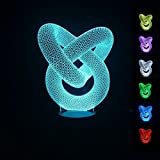 Generic Creative 3D illusion Bulbing Stereoscopic LED Night Light Colorful Lamp HomeDesk