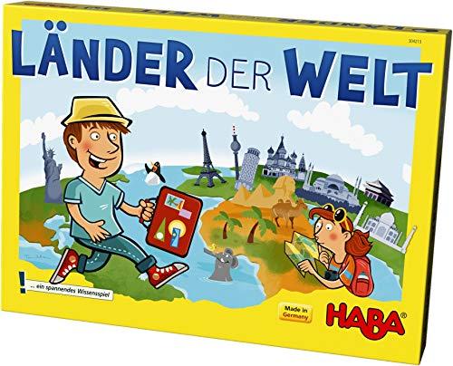 HABA 304213 - Länder der Welt, spannende Weltreise für die ganze Familie, Wissensspiel für 2-4 Spieler von 8-99 Jahren