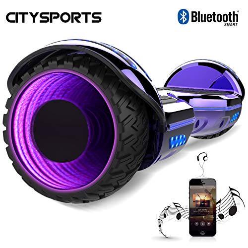 CITYSPORTS Hoverboard Scooter da 6.5 Pollici, Motore con LED e Bluetooth Integrato, Motore 2 * 350W