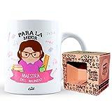 Mr Cool Taza en Caja Regalo en Mensajepara la Mejor Maestra ¡del Mundo, Cerámica, Multicolor, 15x10x5 cm