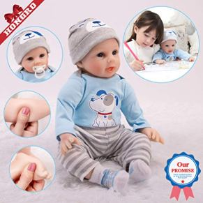 Reborn Muñeca Bebé,Realista Niño-10-Piezas-Set, Muñecas de Silicona Suave Hechas a Mano,para Niños Edad 3+, Certificación EN71