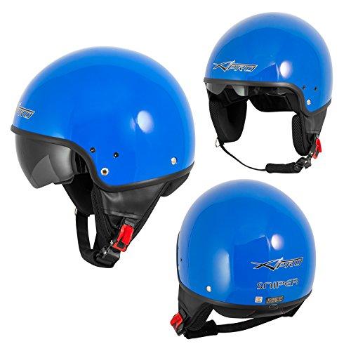 A-Pro Motorradhelm Motorrad Roller Jet Helm Innensonnenblende Viser SonicMoto 1