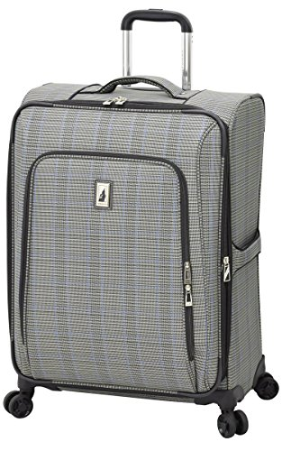 "Knightsbridge II 25"" Expandable Spinner, Grey Sapphire Plaid"