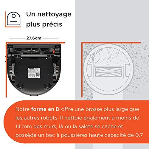 511yfE2inLL [Bon Plan Neato] Neato Robotics D402 Connected - Compatible avec Alexa - Robot aspirateur avec station de charge, Wi-Fi & App