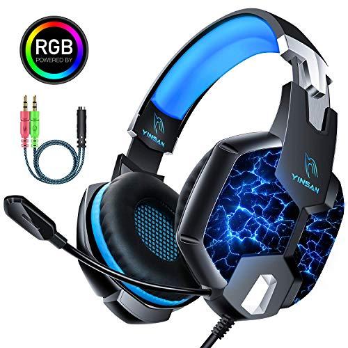 Auriculares Gaming PS4, YINSAN Cascos Gaming Premium Estéreo con...
