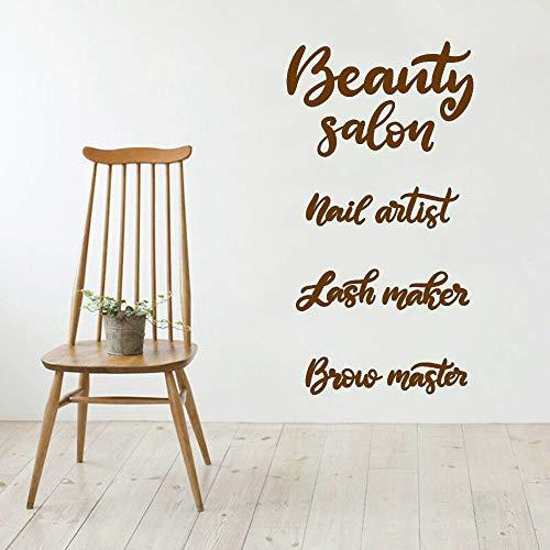 Salone di bellezza Vinile Adesivo Soggiorno Lettering Nail Artist Lash Maker Sopracciglia Adesivi...