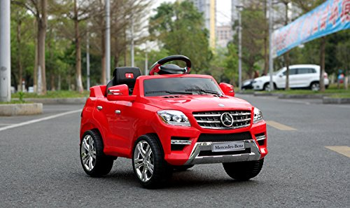 Toyshine Mercedes Benz Battery Powered Ride-On Toy Remote Control Modes Vehicle with Headlights, Music, Assorted Color