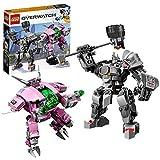 LEGO Overwatch - D.va et Reinhardt, Jeu d'Action 10 Ans et Plus, 455 Pièces - 75973