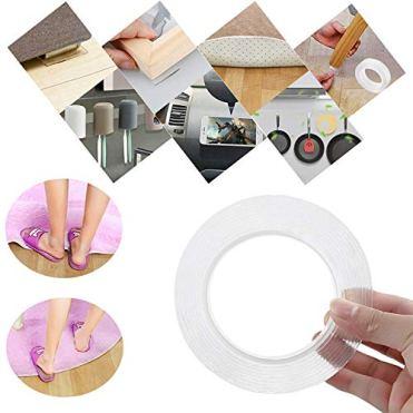 SMAtech-Waschbares-Spurloses-Klebeband3M-Nano-Tech-Entfernbares-KlebebandMultifunktionales-Doppelseitiges-Klebeband-Transparent-Nano-Magic-Tape-fr-Wnde-Kche-Teppichbefestigung