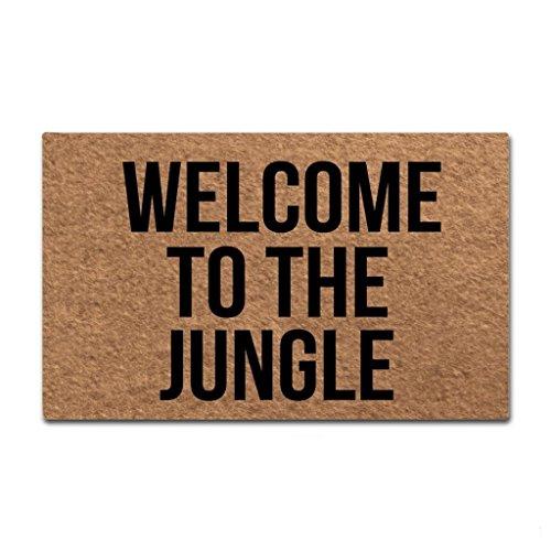 Shinewe Custom zerbino Entrance Floor Mat Welcome to The Jungle Interno/Esterno zerbino Soggiorno...