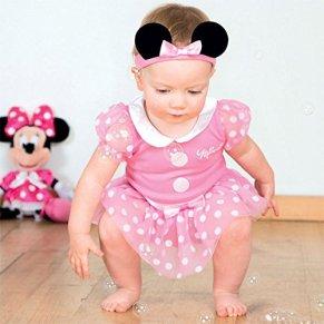 Disfraz de Minnie Mouse para bebé, color rosa, de 6 a 9 meses