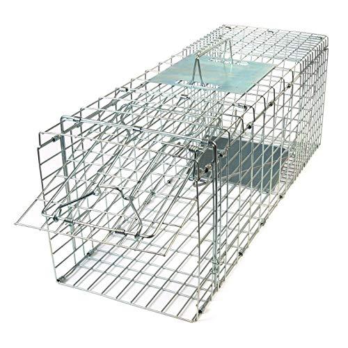 Gardigo 62360 - Jumbo Gabbia Trappola Pieghevole per la Cattura di Animali Vivi Martora Volpi Trasportino per Cani e Gatti, 66 x 23 x 26 cm