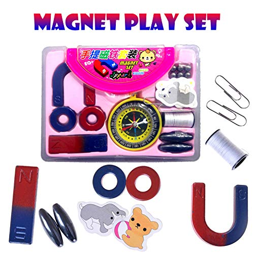 Party Propz Kids Magnet Set and Magnetic kit with Compass (Multicolour) for Kids