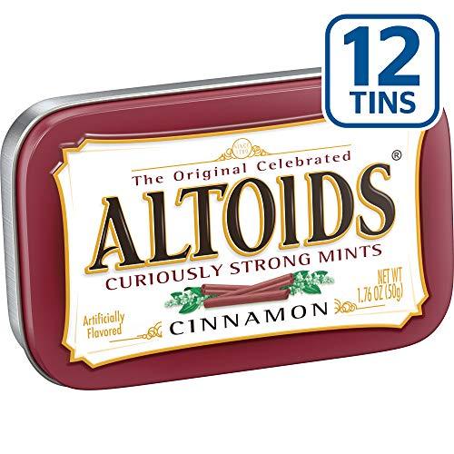 Altoids menthes Curieusement forts, cannelle, Boîtes 1.76 onces (pack de 12) 24